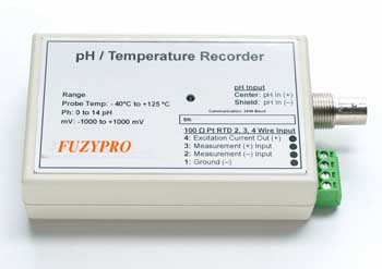 FuzyPro, PHTEMP101, pH/Temperature Data Logger, pH Data Logger, Temperature Data Logger, FuzyPro pH/Temperature Data Logger, PHTEMP101 pH/Temperature Data Logger