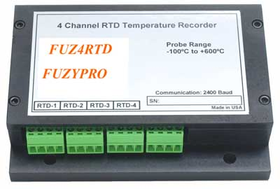 4 Channel RTD Temperature Recorder, FuzyPro, QUADRTD, QUADRTD RTD Temperature Recorder
